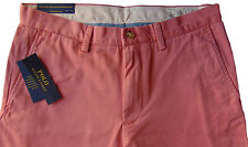 Men's POLO RALPH LAUREN Muted Red Twill Chino Pants 33x30 NWT NEW Classic Fit
