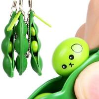 Fun Beans Squeeze Toys Gift Pendants Anti Stress Squeezy Funny Gadgets Bean
