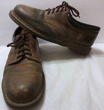 Vtg Dr Doc Martens Brown Nubuck Oxford Shoes Sz 14 US Lace Up Leather 5 Eyelets