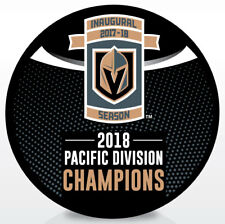 Vegas Golden Knights 2018 Pacific Division Champions Hockey Puck - NEW