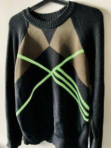 Y3 Yohji Yamamoto Adidas Black Pattern Sweater Size S