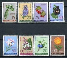 J Flora A85 Yugoslavia 1961 Mlh 8v Flowers Cv 19,60 eur