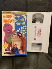Barney Classic Collection Good Day Good Night Kids Fun Educational Tested VHS