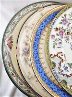 4 Vintage  Mismatched China Dinner Plates Lenox Noritake Boho Weddings Event #19