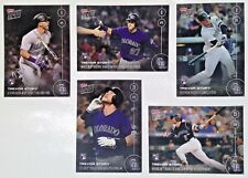 2016 TOPPS NOW RECORD BREAKING **5-CARD-LOT** ~ TREVOR STORY RC Colorado Rockies
