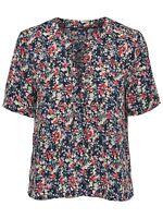 75/22 NEU ONLY Damen T-Shirt Top -onlVIOLET S/S TOP BOX WVN Gr. 38 schwarz