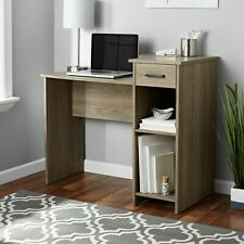 Mainstays Student Walnut Desk w/ Easy-glide Drawer Adjust. Storage Roomy Spaces