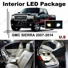 White LED Lights Interior Package Kit for GMC Sierra 2007-2014 ( 12  Pcs )