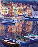 Mediterranean Tile Backsplash Jack White Village Art Ceramic Mural JWA018