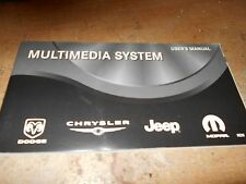 2009 JEEP DODGE VIPER CHALLENGER CHRYSLER CHARGER MULTIMEDIA SYST OWNERS MANUAL