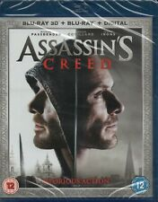 ASSASSIN'S CREED (3D + 2D) - Michael Fassbender - Blu-Ray *NEW & SEALED*