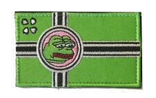 Pepe The Frog Kekistan Flag SpecialEdition Hook&LoopPatch 8.5x5cm 4chan Kek Meme