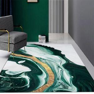 Living Room Rug Decoration Marble Pattern Table Mat Chair Carpet Bathroom Mat