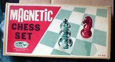 VINTAGE CARDINAL MAGNETIC CHESS SET #610 W/BOX MADE IN JAPAN COMPLETE PERFECT