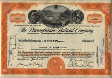 Pennsylvania Railroad Stock Certificate Horseshoe Curve Orange