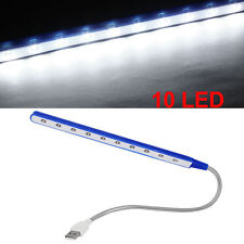 USB 10 LED Light Flexible Bright Portable Lamp PC Computer Laptop Notebook White