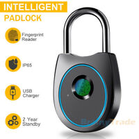 Intelligent Fingerprint Padlock Keyless Smart Biometric Lock for Bike Luggage