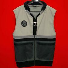 UBI Workshop Vest Sz Large Full Zip, Assassins Creed, Gray & Black, Missing Hood