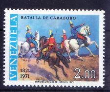 Venezuela 1971 MNH, War, Battle of Carabobo, Siomon Bolivar & Spanish Marsh -W14