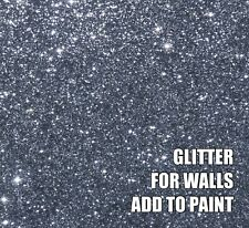 "100g FINE GUNMETAL SILVER GREY GLITTER FOR WALLS ADD TO PAINT/VARNISH .008"" .2mm"