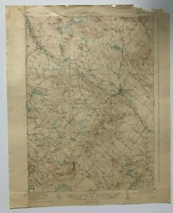 Antique 1929 Geological Survey Topographic Map NH Farmington New Durham & Others