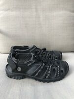 Wilcor Womens Sz.7 All Terrain Outdoor Trail Water Sandal Shoes  Black/Gray EUC