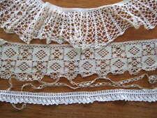Vtg crochet lace edging trim lot 4 pieces