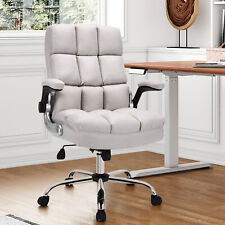 Costway High Back Big Amp Tall Office Chair Height Adjustable Swivel Withflip Up Arm
