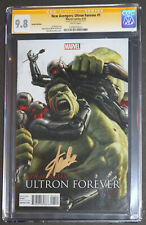 NEW AVENGERS ULTRON FOREVER #1 HULK CGC 9.8 SS GOLD SIGNED BY STAN LEE, 1:25 LTD