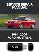 Ford Mustang 1994-2004 Factory Service Repair Manual USB