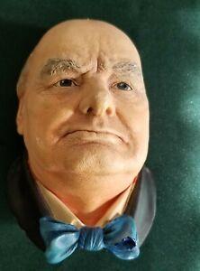 Winston Churchill Bossons Chalkware bust / head figure- Wall mount!  Scarce!