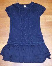 Baby Toddler Girls CHEROKEE Sweater Dress Black Glitter Ruffle Sz. 24 mo.