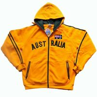 Australia Colour Adult Zip up Hoodie Jacket Warm Jumper Australia Souvenir Gold
