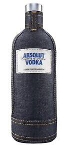 Absolut Vodka Denim Jeans Limited Edition 1000 ml Hülle Second Skin New