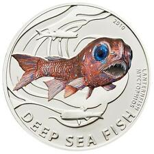Pitcairn Islands 2010 2$ Deep Sea Fish Lantern Fish Proof 1/2 oz Silver Coin