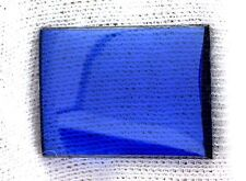 ONE 20mm x 15mm Flat Rectangle Synthetic Blue Spinel Corundum Cabochon Gemstone