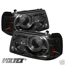 2001-2008 FORD RANGER HALO LED PROJECTOR HEADLIGHTS LIGHTBAR LIGHT BAR SMOKE