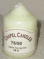 2 Pack  WENZEL CHAPEL/ CHURCH / PILLAR  CANDLES 75mm tall x 50mm diam 14 hour