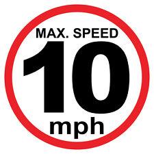 "10 Mph Max Sign 8"" x 8"""