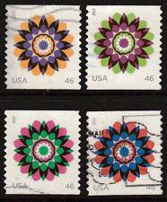 Scott #4722-25 Used Set of 4, Kaleidoscope Flowers