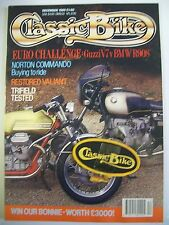 Classic Bike Magazine. No. 119. December, 1989. Euro Challenge Guzzi V7 v BMWR90