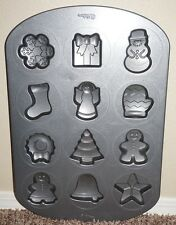 Wilton Christmas Cookie Candy Molds Snowflake Gingerbread Stocking Snowman Angel
