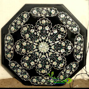 """24"""" Marble Center Table Top Mother Of Pearls Mosaic Garden And Home Interior"""