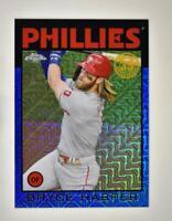 2021 Series 1 1986 Baseball Silver Chrome Blue #86BC-20 Bryce Harper /150