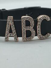 Rose Gold Pave Letter Slide Charm *New* Fits Keep Collective