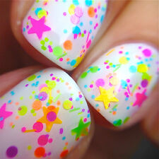 funfetti - neon polka dots -Custom-Blended Indie Glitter Nail Polish / Lacquer