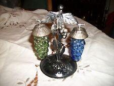 Grapes Salt & Pepper Shakers Hanging on Metal Holder