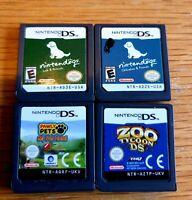 4 x Nintendo DS Game Bundle, Nintendogs, GENUINE Carts, Tested in VGC