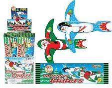 CHRISTMAS FLYING GLIDER PLANE XMAS SANTA SNOWMAN PARTY BAG GIFT