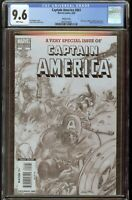Captain America #601 CGC 9.6 White Pages 2009 Sketch Cover  2047254003